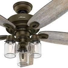 hunter mason jar ceiling fan hunter 52 regal bronze ceiling fan with 3 lights and mason jar