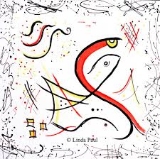 fish art paintings large abstract and whimsical painted fish