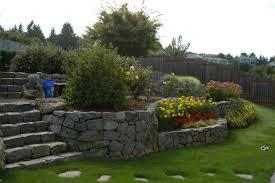 Sloping Backyard Ideas Pleasant Landscaping Ideas Sloping Backyard Backyard Designs