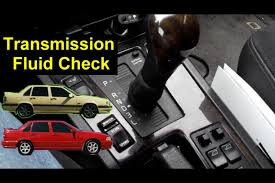 how to check the automatic transmission fluid level volvo 850