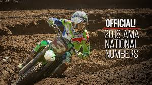 ama motocross champions 2018 ama motocross supercross national rider numbers motocross