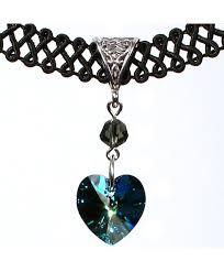 heart pendant choker necklace images 14mm swarovski crystal heart pendant choker necklace bermuda jpg
