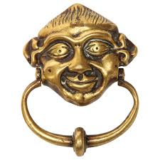 monumental round decorative brass door knocker for sale at 1stdibs