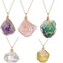 necklace natural stone images Buy necklaces rainbow stone natural crystal rock jpg