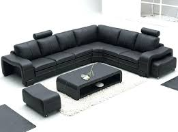 Sofa With Ottoman Chaise by Modern Grey Sectional Remarkable Bonded Leather Sofa In Black With