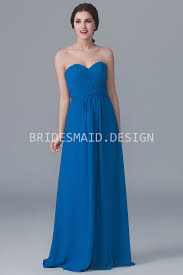 royal blue chiffon bridesmaid dresses strapless sweetheart royal blue chiffon simple a line bridesmaid