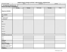 download free weekly lesson plan template lots of common