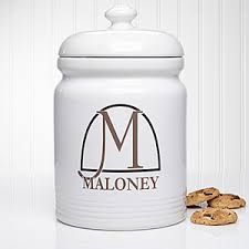 personalized cookie jars personalized cookie jar monogram elegance