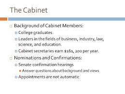 Number Of Cabinet Members The Presidency Chapter 8 Objectives Describe The Duties And