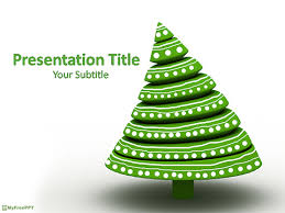 free decorative christmas tree powerpoint template download free