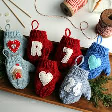 ravelry felt applique mitten ornament pattern by fifty