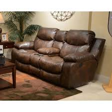 Leather Power Reclining Loveseat Catnapper Catalina Leather Power Reclining Console Loveseat In