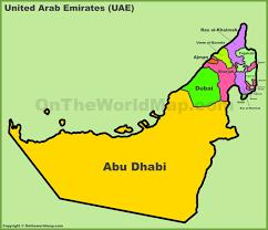map of the uae united arab emirates maps maps of uae united arab emirates