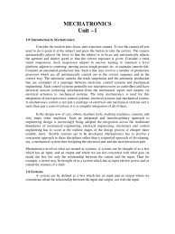 unit 1 mechatronics control theory internal combustion engine