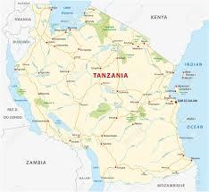 Tanzania Map Tanzania Road And National Park Map Royalty Free Cliparts Vectors