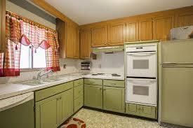 avocado green kitchen cabinets whiskey barrel a go go inside trixi and jon s retro genius