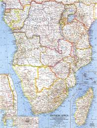 Geographic Map Of Africa by 1962 Southern Africa Map Historical Maps