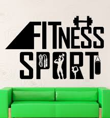 popular sports wall stickers buy cheap sports wall stickers lots fitness sport wall stickers diy vinyl removable gym wall decor waterproof sports wall sticker for bedroom
