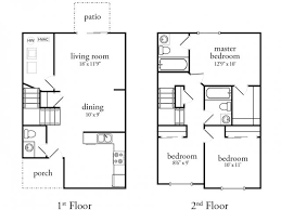 three bedroom townhouse floor plans 1 3 bed apartments meadow view north