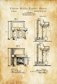 steinway upright piano patent patent print wall decor music