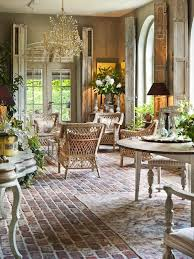 love the brick work flooring in a french provincial style might
