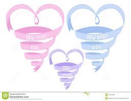 baby ribbon new baby heart shaped ribbon vector stock vector image 38789994
