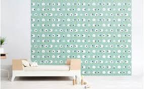 papier chambre bébé papier peint mouton bleu menthe déco chambre bébé