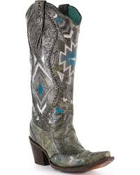 womens corral boots size 11 corral boots s 15 aztec embroidered boots snip