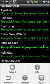 how to change the font on android font changer lets you change android fonts