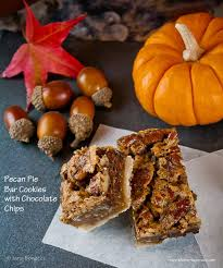 pecan pie bar cookies with chocolate chips gluten free the