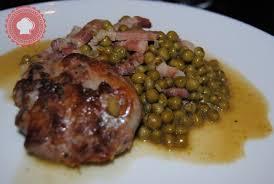 petit plat facile à cuisiner recette de crépinettes de porc aux petits pois et lardons pour un