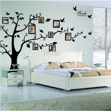 home decor wall large size black family photo frames tree wall stickers diy home