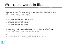 Count No Of Words In Unix Text Mining On The Command Line Introduction To Linux For Bioinform
