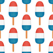red white and blue ice pops pattern seamless patterns