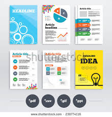 brochure design a4 flyers download document stock vector 230778760
