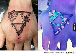 triforce simple and nice uv triangle tattoo golfian com