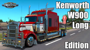 kenworth truck bumpers ats mods kenworth w900 long edition youtube