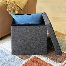 seville classics foldable storage bench ottoman charcoal gray seville classics foldable storage ottoman charcoal gray amazon ca