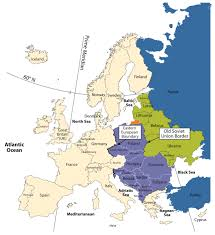 European Union Blank Map by Eastern Europe