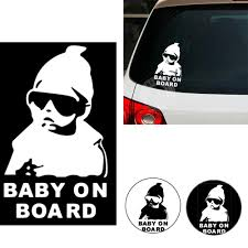fashion baby on board carlos hangover funny car vinyl sticker see larger image