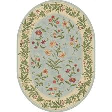 Shaw Area Rugs Shop Shaw Living Summer Flowers Oval Blue Floral Area Rug Common