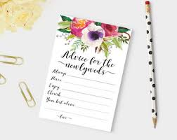 advice cards for the words of wisdom advice cards wedding advice card newlyweds