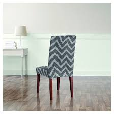 plush chevron dining room chair slipcover sure fit target