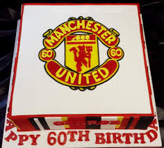 manchester united 60th birthday cake cake by angelic cakes by
