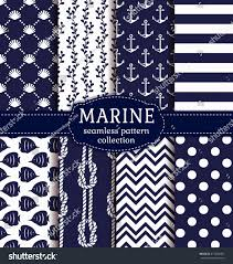 set marine nautical backgrounds navy blue stock vector 417839392