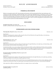 Ministry Resume Template Youth Pastor Resume