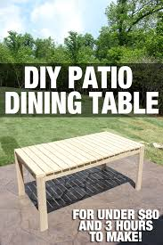 how to make an outdoor table how to build a patio dining table how to nest for less