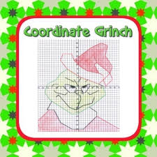 grinch coordinate graphing fun ordered pairs blank grid all 4