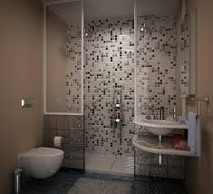 make a design statement with cool tile idea for small bathroom
