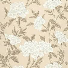 schumacher whitney floral taupe wallpaper